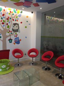 Sala de espera Clínica Ortodoncia Simarro